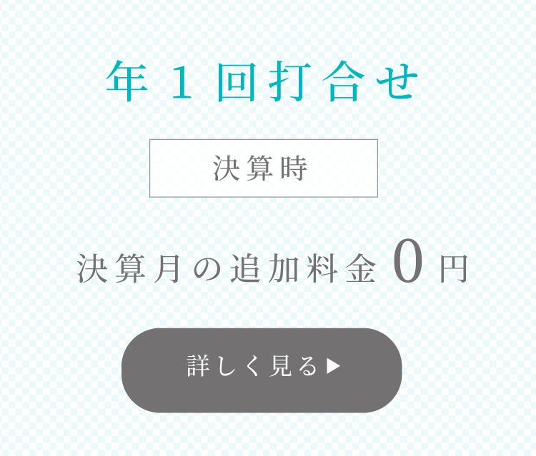 年1回打合せ 決算月の追加料金0円